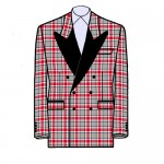 Buckeye Tartan Blazer - Double-Breasted Peak Tuxedo